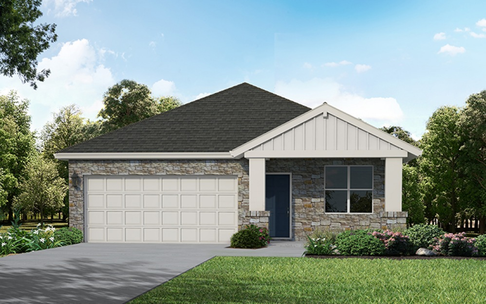 Azalea - 3 bedroom floorplan layout with 2 baths and 1435 square feet. (Exterior A)